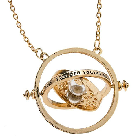 Harry Potter Hermione Granger Time Turner Rotating Hourglass Halskette Pendant Necklace Requisiten