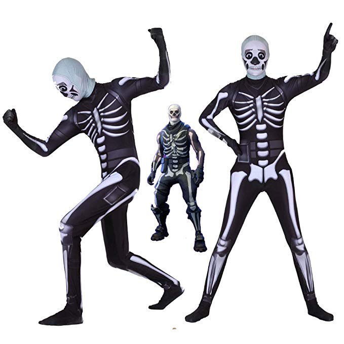 fortnite skull trooper kostüm jumpsuit mottoparty cosplay outfit für