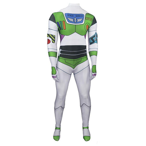 Buzz Lightyear Toy Story Damen Jumpsuit Halloween Karneval Buzz Lightyear Kostüm für Mottoparty Themenparty