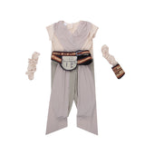 Rey Star Wars Halloween The Force Awakens Cosplay Kostüm für Kinder Mädchen Karneval Mottoparty