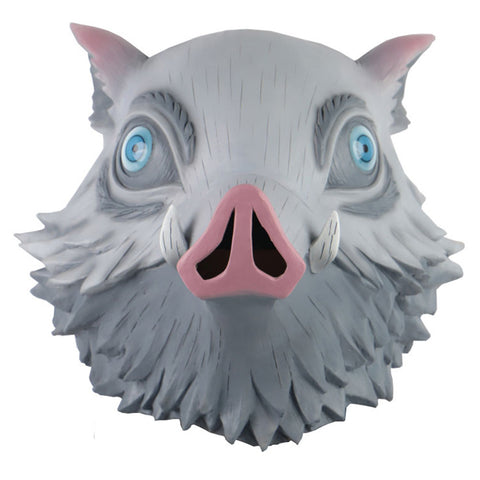Inosuke Hashibira Demon Slayer Kimetsu no Yaiba Latex Party Cosplay Maske Schwein Maske