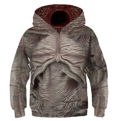 Kinder Demodog Demogorgon Stranger Things 3 Demodog Hoodie Kaputzpullover Hooded Pulli für Kinder