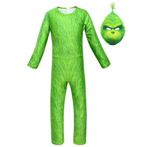THE GRINCH DER GRINCH Kinder Jungen Cosplay Kostüm Outfit Party Suit Jumpsuit für Karneval Mottoparty