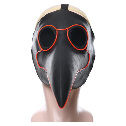 Pestarzt Pestdoktor Doctor Schnabel Maske aus Latex Cosplay Requisite Beleuchtend