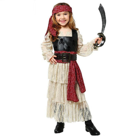 Kinder Mädchen Piratin Pirat Kostüm Pirates of the Caribbean Faschingkostüme für Karneval Mottoparty
