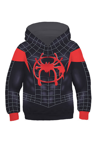 Spider-Man: Into the Spider-Verse Spider-Man: A New Universe Miles Morales Hoodie Pullover mit Kaputze Kinder