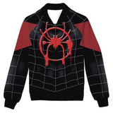 Spiderman Into the Spider-Verse Spiderman Jacke Hoodie Erwachsene Pulli Sweatshirt Jungen Herren