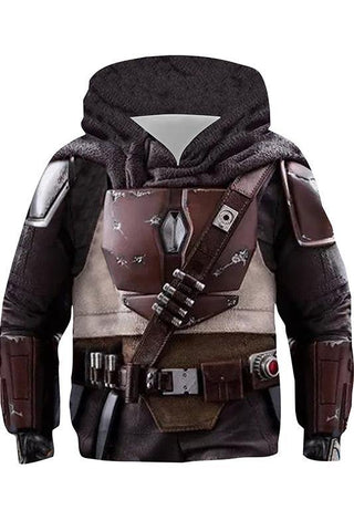 The Mandalorian Star Wars Hoodie Hooded Pullover mit Kaputze Sweatshirt für Kinder