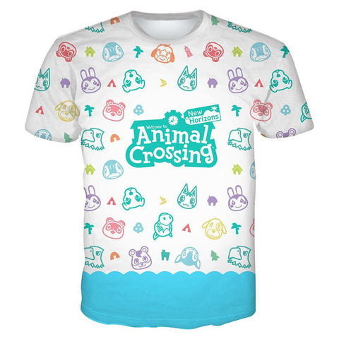 Animal Crossing T-shirt Erwachsene Tee Top Oberteil für Sommer