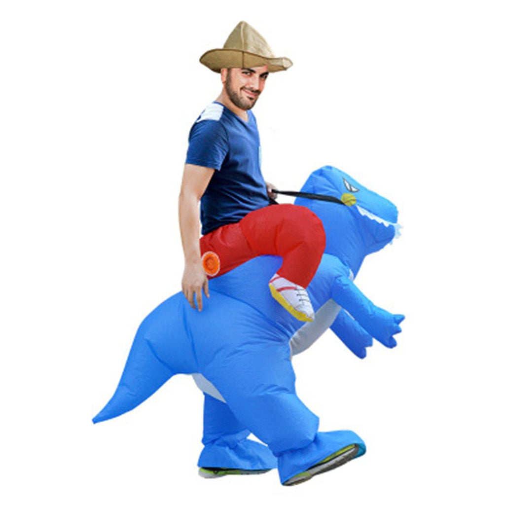 adults kids inflatable dinosaur dragon rider halloween costume