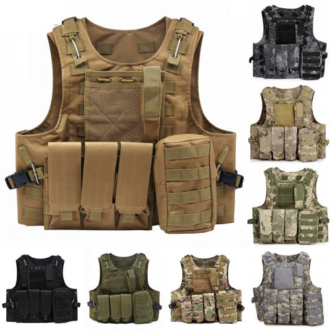 Military Molle Tactical Vest with Mag Pouch -  - TheToolKit Outdoor Survival Gear and Equipment