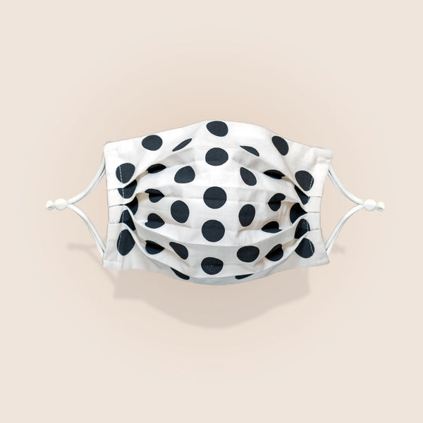 Plum Label Face Mask - Maikudot Pattern