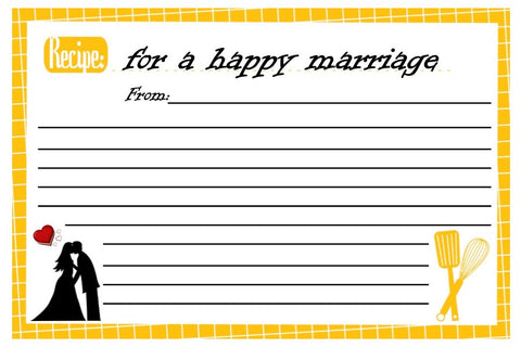 Recipe Card for a Happy Marriage-Design 01