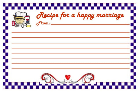 Recipe Card For A Happy Marriage-Design 02