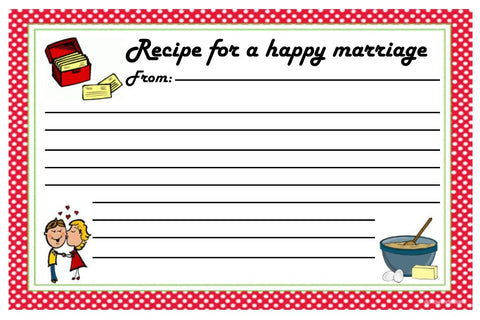 Recipe Card For A Happy Marriage-Design 03