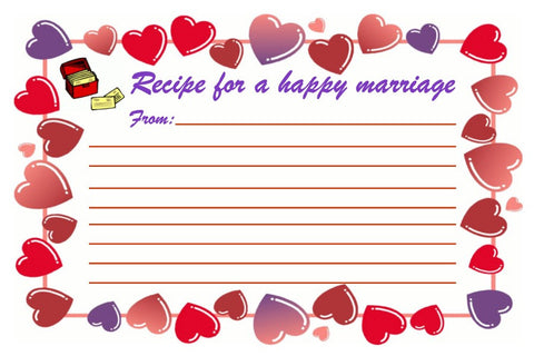 Recipe Card For A Happy Marriage-Design 07