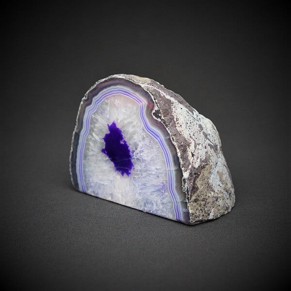 Purple Agate Cave Candle Holder include tealight candle - 1.399 kgs - Heavenly Crystals Online