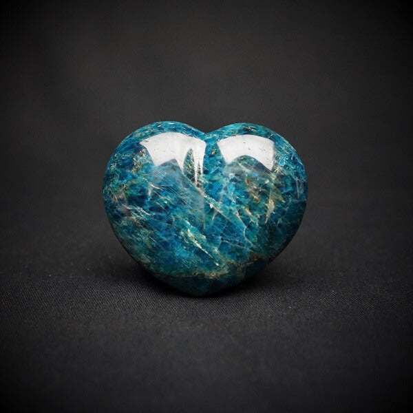 Blue Apatite Heart - 204 grams - Heavenly Crystals Online