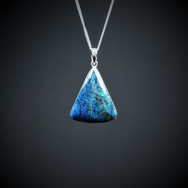 Shattuckite Pendant 925 Sterling Silver - Heavenly Crystals Online