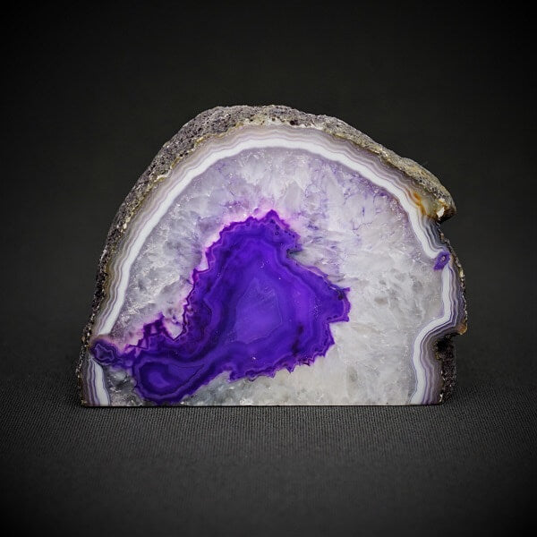 Purple Agate Cave Candle Holder include tealight candle - 1.086 kgs - Heavenly Crystals Online