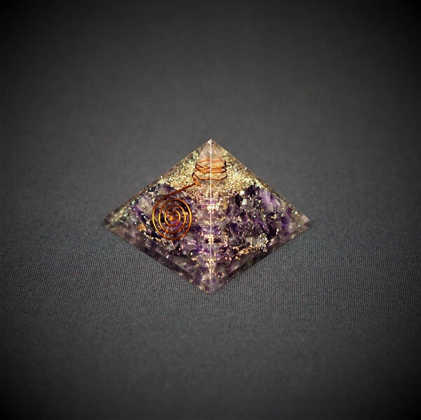 Amethyst Orgonite Crystal Pyramid - 110 grams