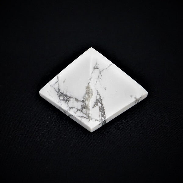 White Howlite Pyramid - 96 grams - Heavenly Crystals Online