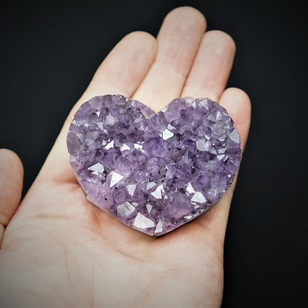Amethyst Geode Heart - 205 grams - Heavenly Crystals Online