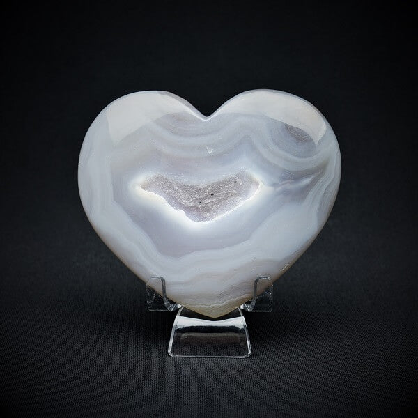 Agate Druzy Heart - 185 grams - Heavenly Crystals Online