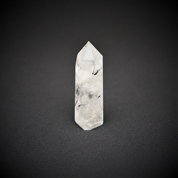 Tourmaline in Quartz Generator Point - heavenly-crystals-online