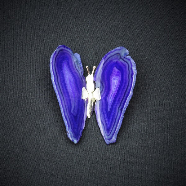 Purple Agate Butterfly - Heavenly Crystals Online