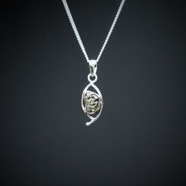 Moldavite Pendant 925 Sterling Silver - Heavenly Crystals Online