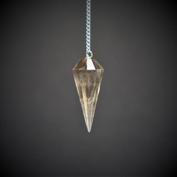Smoky Quartz Faceted Pendulum - heavenly-crystals-online