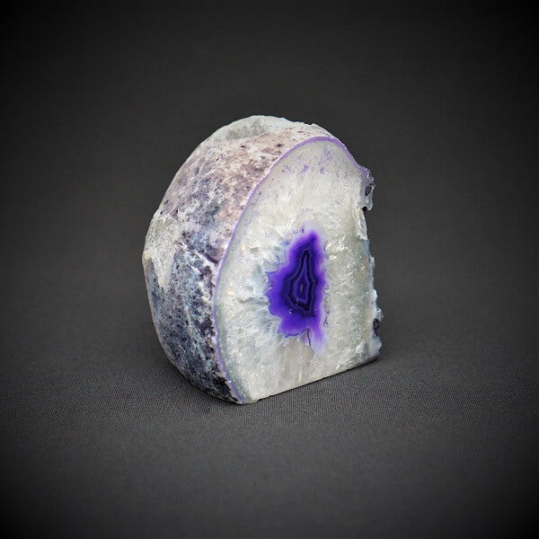 Purple Agate Cave Candle Holder include tealight candle - 1.106 kgs - Heavenly Crystals Online