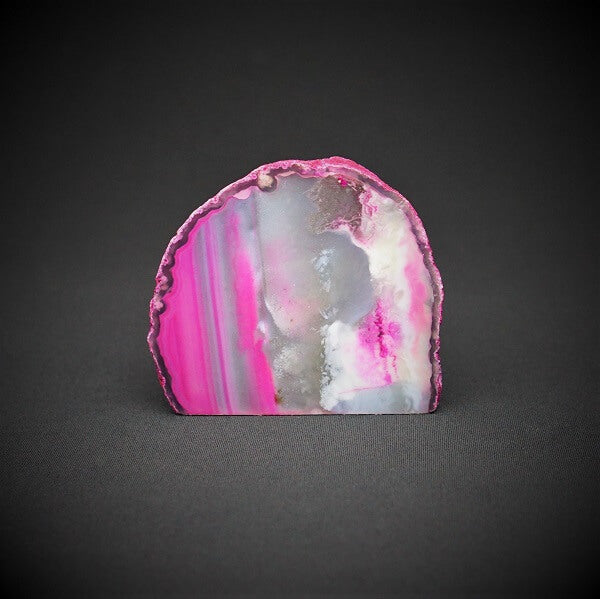 Pink Agate Cave Candle Holder include tealight candle - 880 grams