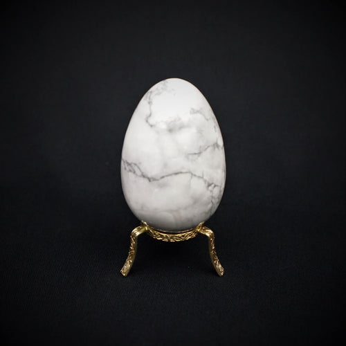 White Howlite Egg - heavenly-crystals-online