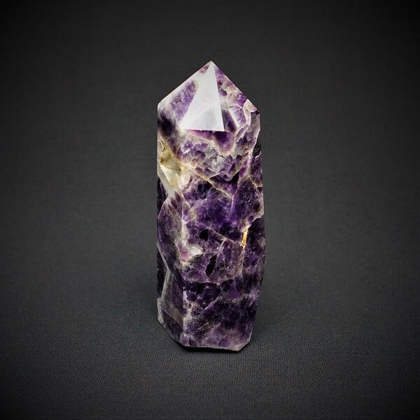 Chevron Amethyst Druzy Quartz Generator Point Tower - 1.174 kgs - Heavenly Crystals Online