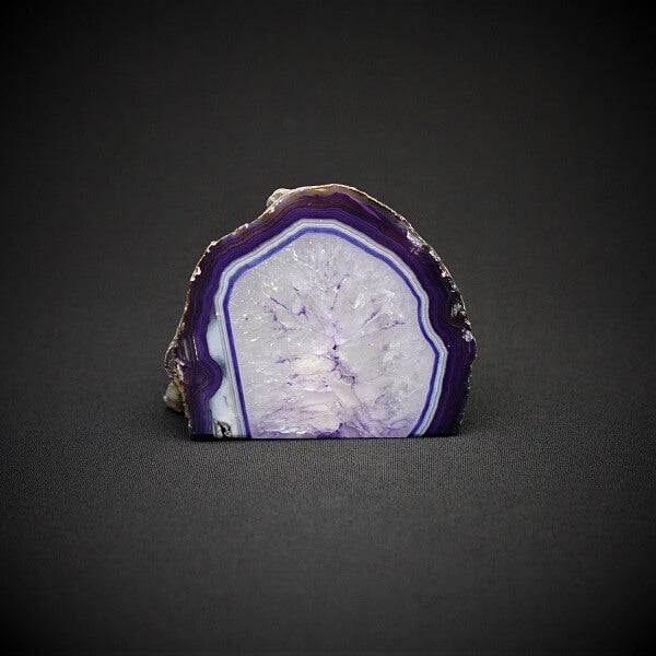 Purple Agate Cave Candle Holder include tealight candle - 736 grams