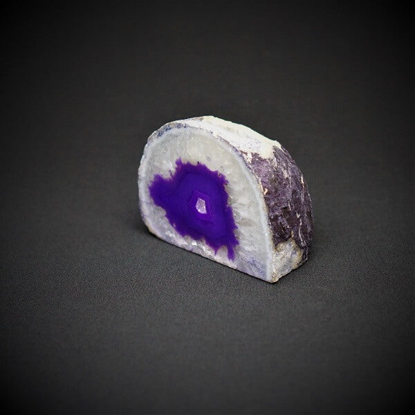 Purple Agate Cave Candle Holder include tealight candle - 634 grams