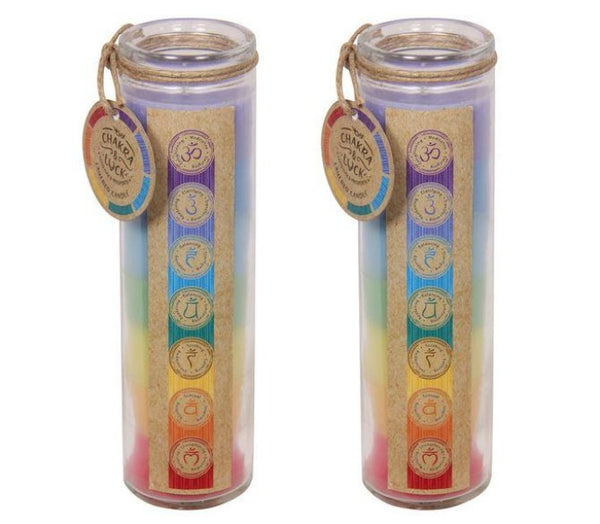 Chakra & Luck 7 Layered Chakra Candle - Heavenly Crystals Online