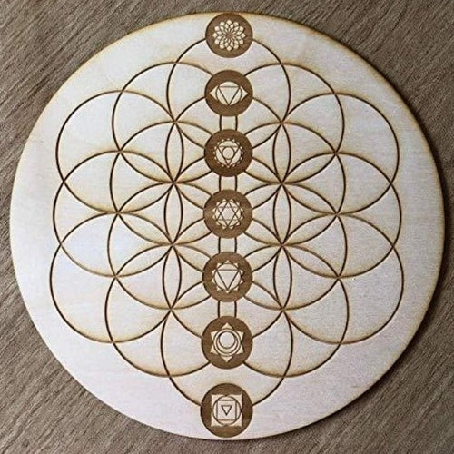 Flower of Life Chakra Crystal Grid