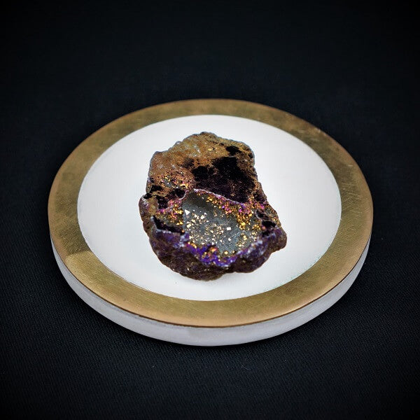 Purple Aura Quartz Geode - Heavenly Crystals Online