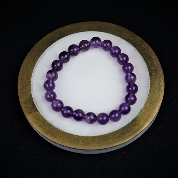 Amethyst Healing Bracelet - 8mm - Heavenly Crystals Online