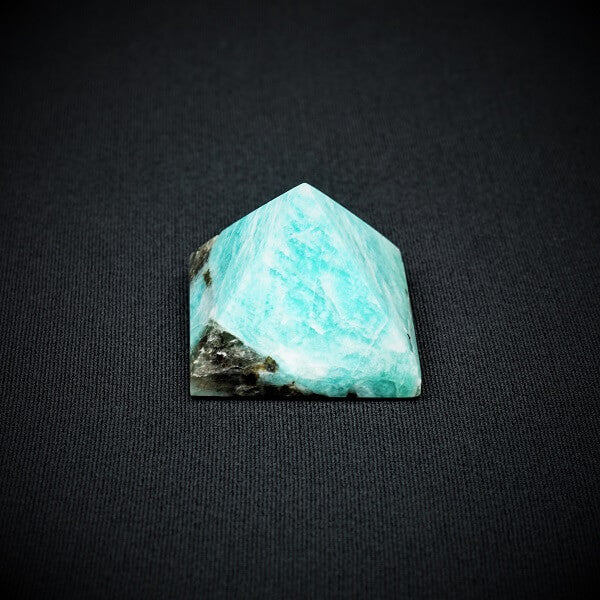 Amazonite with Hematite Pyramid - 57 grams