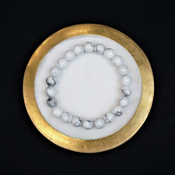 White Howlite Healing Bracelet - Heavenly Crystals Online