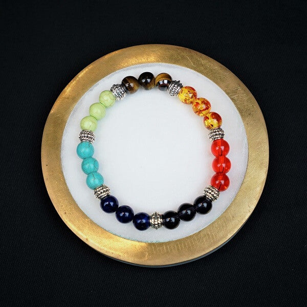 7 Chakra Healing Bracelet - heavenly-crystals-online