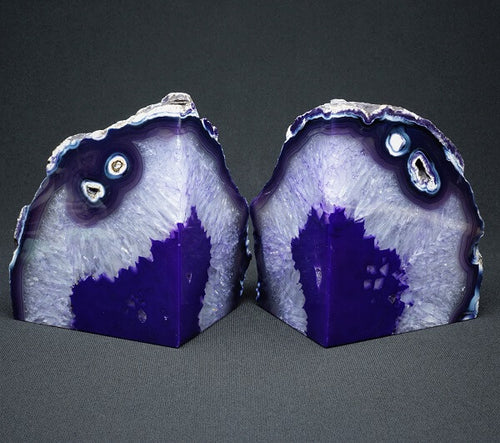 Purple Agate Bookends - 3.852 kgs