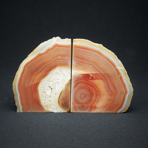 Brown or Tawny Agate Bookends - 1.805 kgs