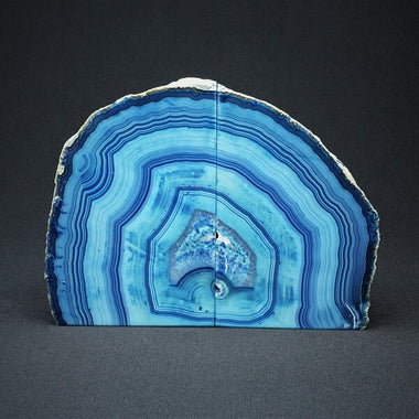 Blue Agate Bookends - 3.319 kgs