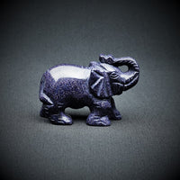 Blue Goldstone Elephant (Man-made) - 125 grams