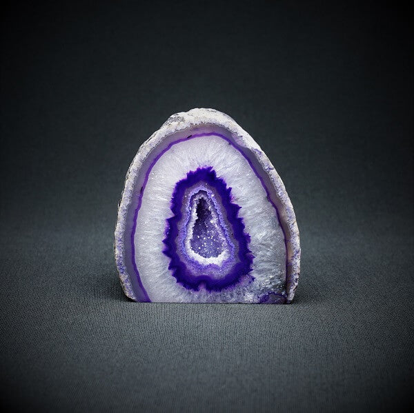 Purple Agate Cave - 448 grams - Heavenly Crystals Online